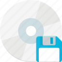 compact, disk, drive, floppy, save, storage icon