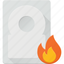 burn, disk, drive, hadr, hot, storage icon