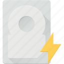 disk, drive, fast, hard, storage icon
