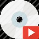 compact, disk, drive, media, storage icon
