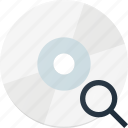 disk, drive, search, storage icon