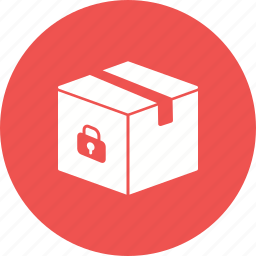 box, case, gift, package, plastic, secure, shipping icon