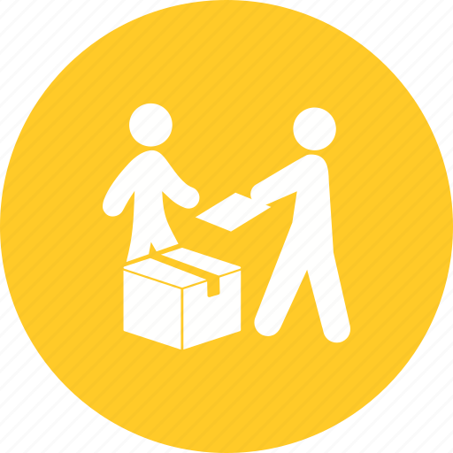 box, courier, delivery, package, receiving, service, shipping icon