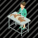 animal, clinic, isometric, object, vet, veterinarian, veterinary