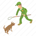 animal, catcher, control, dog, isometric, object, puppy