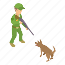 animal, catcher, character, dog, isometric, object, puppy