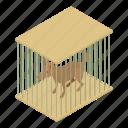 animal, cage, dog, domestic, feline, isometric, object