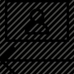 float, layout, left icon