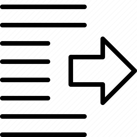 indentation, right, shift icon