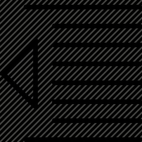 indentation, left, shift icon