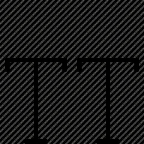 capitalize, typography icon