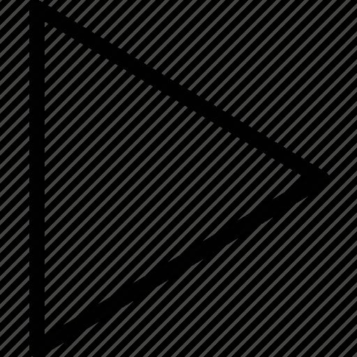 arrow, play, right icon