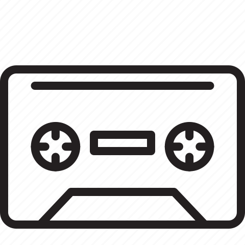 cassette tape, media, retro icon