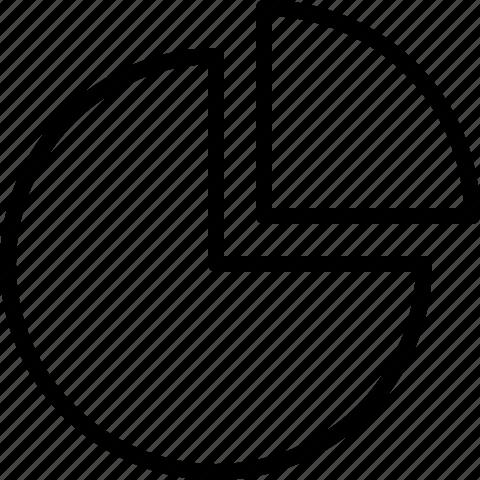 chart, diagram, graph, pie chart, report icon