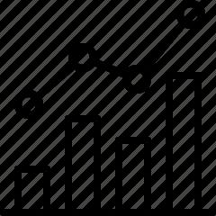 bar, chart, diagram, graph, line, report, statistics icon
