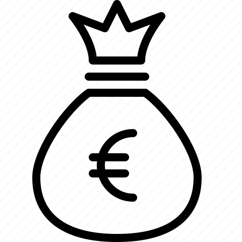 bag, euro, money, moneybag icon