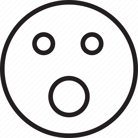 emoticon, smiley, surprised icon