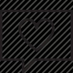 message, talk icon