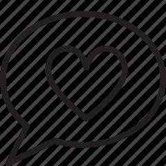 chat, favorite, heart, love, talk icon