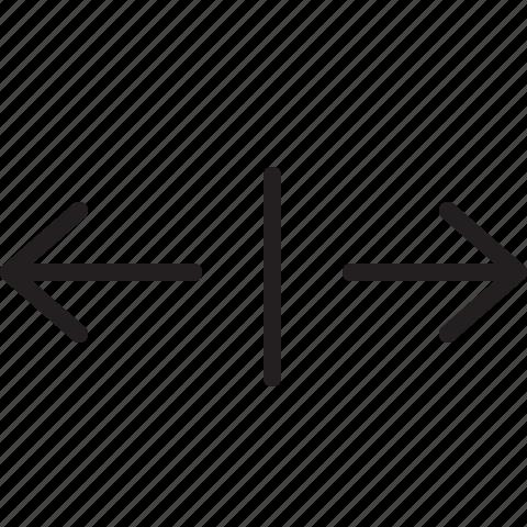 horizontal, line, scale icon