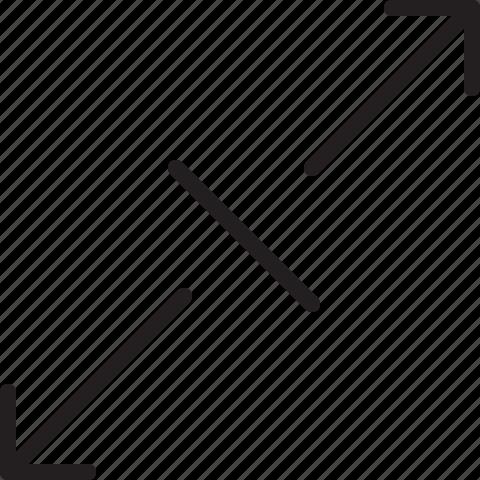 diagonal, line, scale icon