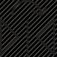 design, edit, flip, horizontal, line icon
