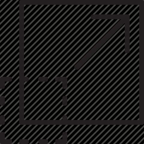 big, edit, line, resize icon