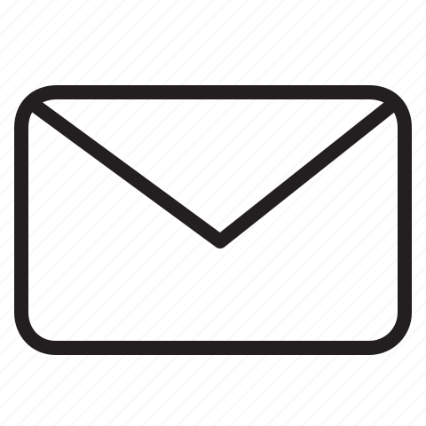 email, evelope, letter, line, mail icon