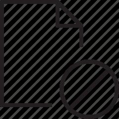 block, denied, document, file, line icon