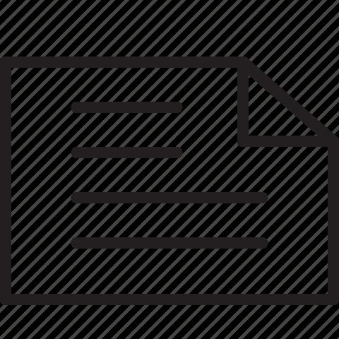document, file, landscape, line icon