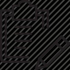clipboard, document, edit, file, line icon