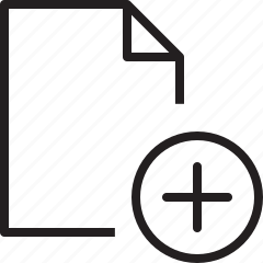 add, document, file, line, new, plus icon