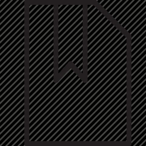bookmark, document, file, line icon