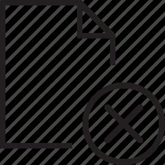 delete, document, file, line, remove icon