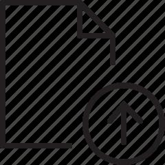 document, file, line, upload icon
