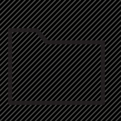 empty, folder, line icon