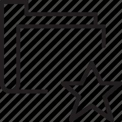 favorite, folder, line icon