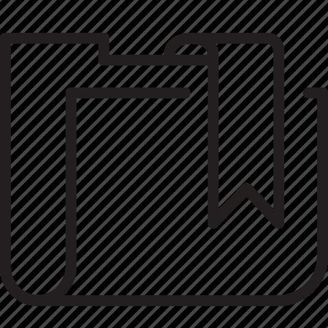 bookmark, folder, line, tag icon