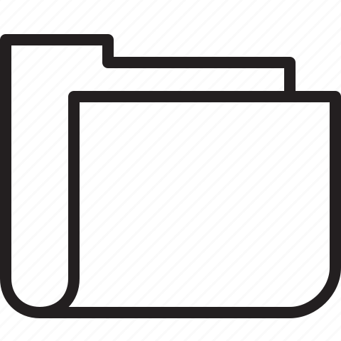 empty, folder, line, new icon