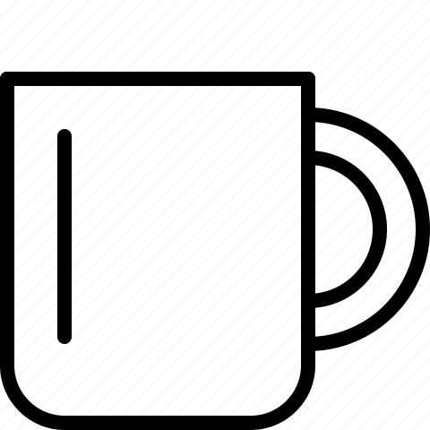 coffee, cup, line icon