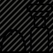 line, pepper, salt, shaker icon