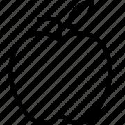 apple, fruit, line icon