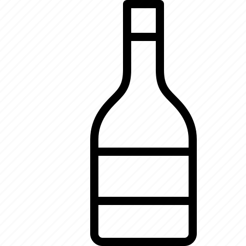 alcohol, bottle, champagne, line, wine icon