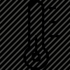 line, low, temperature, themometer icon