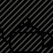 line, pot, teapot icon