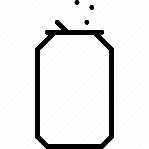 can, drink, line, soft drink icon