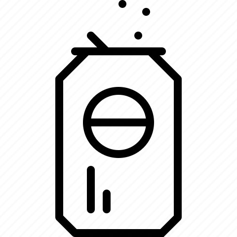 drink, line, soft drink icon