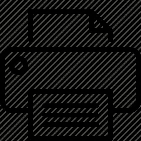 line, print, printer icon