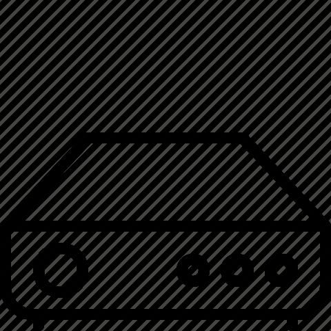 drive, harddisk, line, server, storage icon