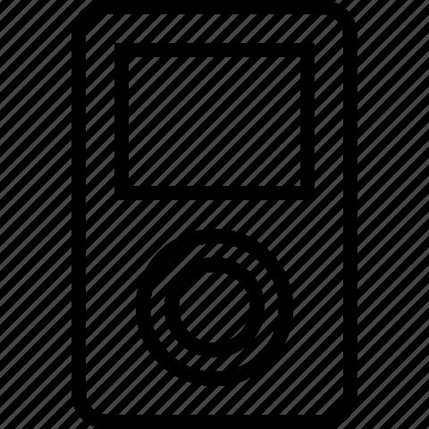 apple, audio, ipod, line, music, player icon